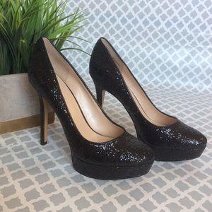 Nine West Black Sparkle Heels; Size 7